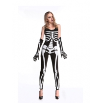 black halloween skeleton costume M40181