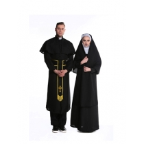 halloween costume nun and godsworn couple costume M40182
