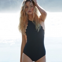 Black Sexy Backless One-Piece Swimwear M17092