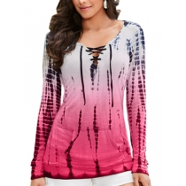 New two colors hot selling print long sleeve  t-shirt m88045