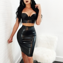 Two piece Leather Dress M7308
