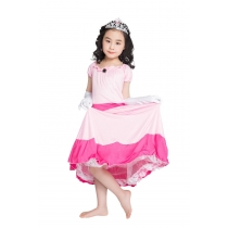 New children cosplay  queen dress pink princess costume M40642
