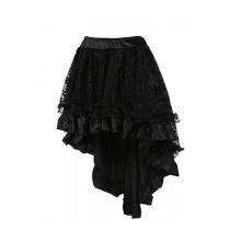 Summer Fashion Lace Pleated Solid Color Women Skirt Plus-Size M31673