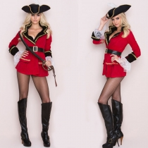Hot Red Sexy Pirate Costume Women M40539