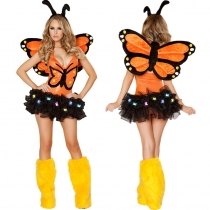 4Pcs Sexy Women's Butterfly Costume Adult