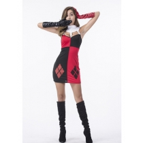 Sexy Black Red Halloween Costumes Fancy Dress