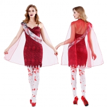 Vampire Halloween cosplay female zombie Dress M40713