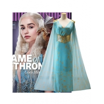 Game of Thrones Daenerys Cosplay Costumes Blue Dresses M40474