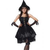 Women Sexy Lace Witch Costume for Halloween Party m40392