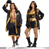 Cool Black Male Boxer Costumes M40502