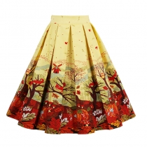New Print Christmas Skirt M30367