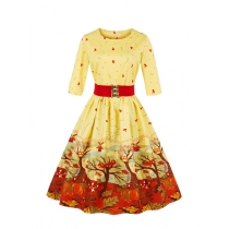 New fashion Print Dress Vintage Dress M30371
