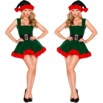 Green Velvet Christmas Costume M1172