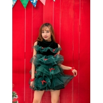 Christmas Green tree cosplay costume m1116
