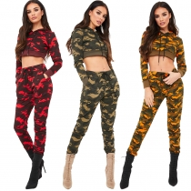 2 Pcs Women Camouflage Set  M8187