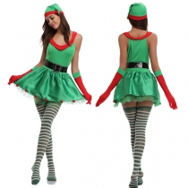 New Green Dress Sexy Christmas Costumes M1113
