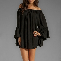 Women Casual Loose Off Shoulder Dress M30379