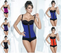 Hot Sell Latex Vest Corset Blue M1304