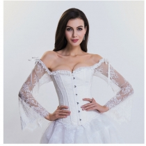 Long Sleeve Lace Corset M1418A