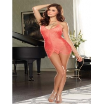 Fringed Halter Babydoll Set 3586