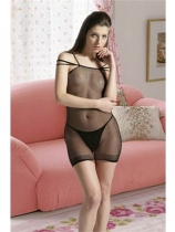 Fishnet Body Stocking open front M1530