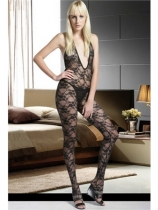 Boudoir rose bodystocking M1523