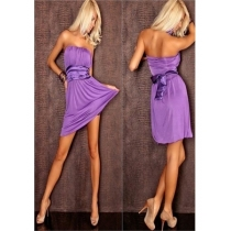 loose and wrap hip sexy low-cut dress 3445B