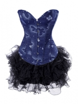 hot sale blue corset with skirt m1999