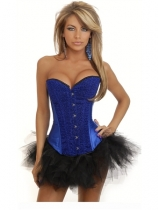 sexy blue arabedquitic corset with bubble skirt m1846F