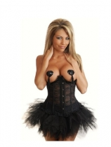 black satin corset with bubble skirt m1831