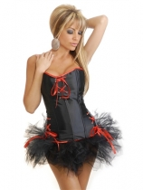 sexy black corset with bubble skirt m1812