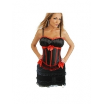 sexy satin corset with skirt 1753H
