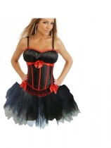 sexy satin corset with skirt m1753G
