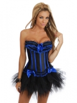 sexy satin corset with skirt m1700c