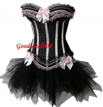Sexy satin corset with skirt M1700