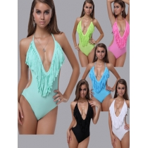 V-neck One Piece Swimsuit M5223