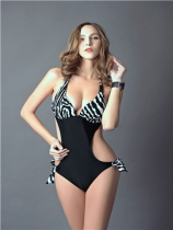 One pieces sexy zebra bikini M5327d