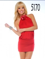 tight red partywear m3397