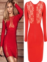 Seamless Cutouts Mini Causal Night Clubwear Party FittedBodycon Dress M3671