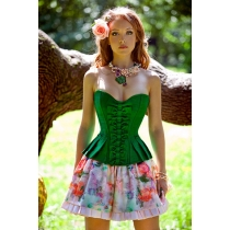Green sexy overbust corset for women m1868d