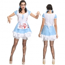 Halloween Dress for Women Scary Zombie Maid Bloody Costume M40663