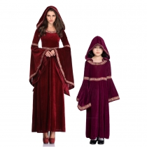 Red Vampire Costumes Gothic Long Hood Costumes M40638