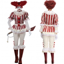 Halloween Women Role Play Cosplay Killer Clown Outfit Suit M40665