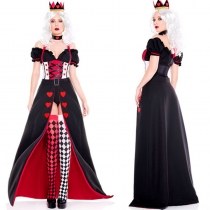 Poker Red Queen Of Hearts Costume m40684