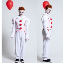 Adult Men's Pennywise Killer Clown Cosplay Costume M40679