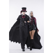 6 Pcs High Quality Gothic Halloween Party Costume for Men m40356