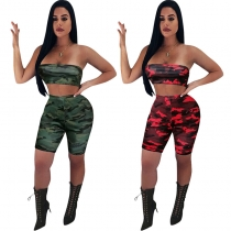 Sexy Camouflage Bodycon Two Piece Set M8453