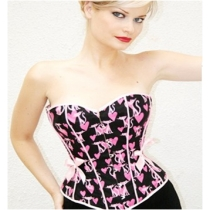 Girl's sexy pink heart corset M1643