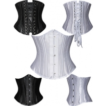 Polyester Steel Boned Hook Eye and Lace Up Closure Underbust Corset M1323