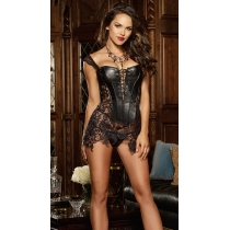 Plus Size S-5XL Black adult women lace corsets M1341